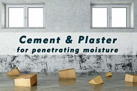 Subsequent sealing against penetrating moisture with...
