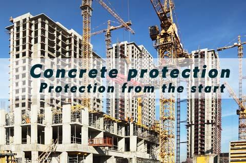 Concrete protection with additives like liquid X from...