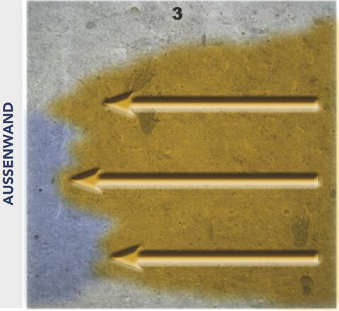 Durch das Kristallwachstum hat Druckwasser keine Chance mehr durch den Baukörper zu dringen.